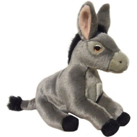 "Grey Donkey 12"" Soft and cuddly quality Toy donkey"